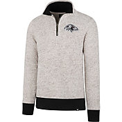 '47 Men's Baltimore Ravens Kodiak Quarter-Zip Grey Top