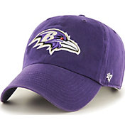 '47 Men's Baltimore Ravens Clean Up Purple Adjustable Hat