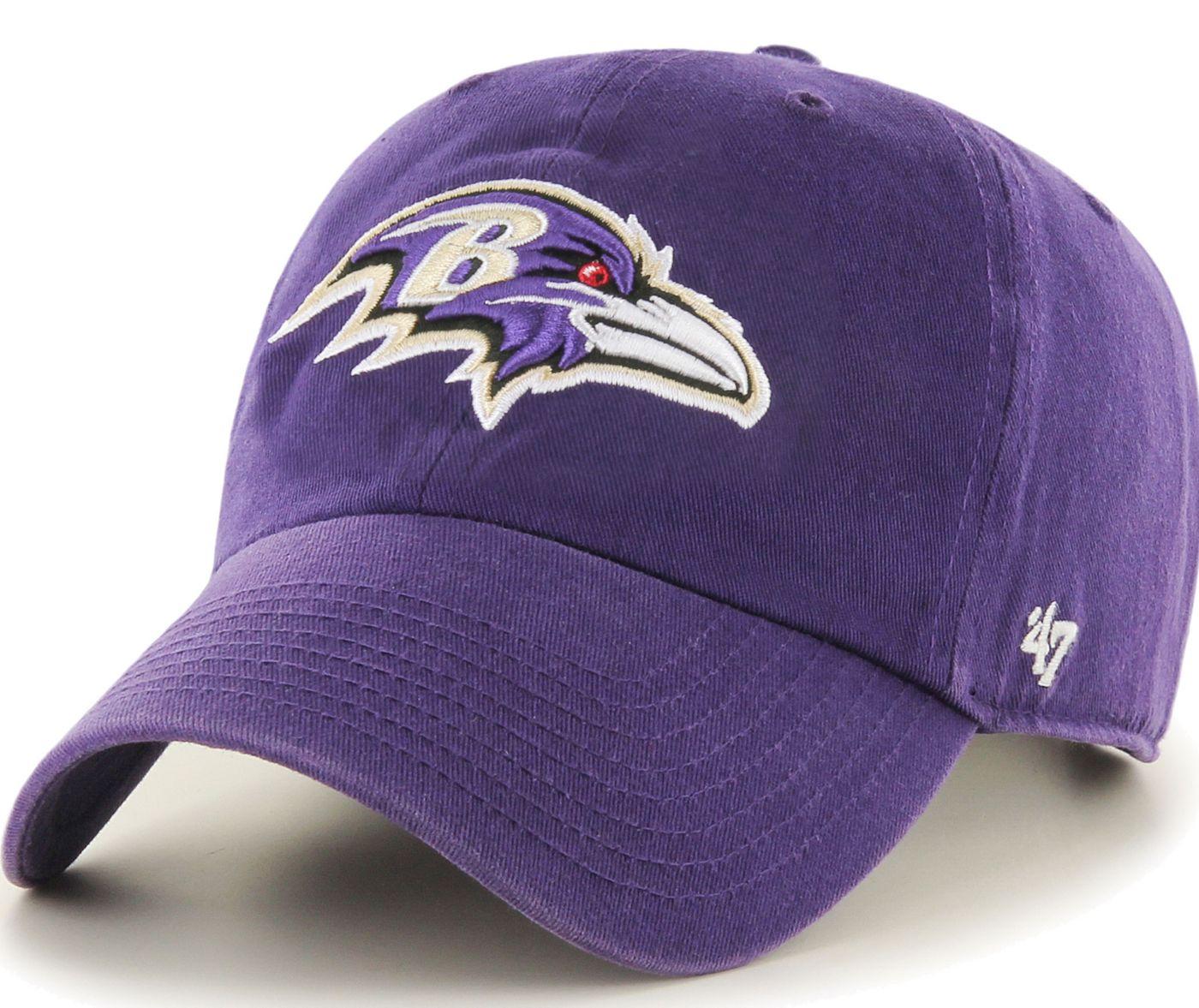 '47 Men's Baltimore Ravens Clean Up Purple Adjustable Hat