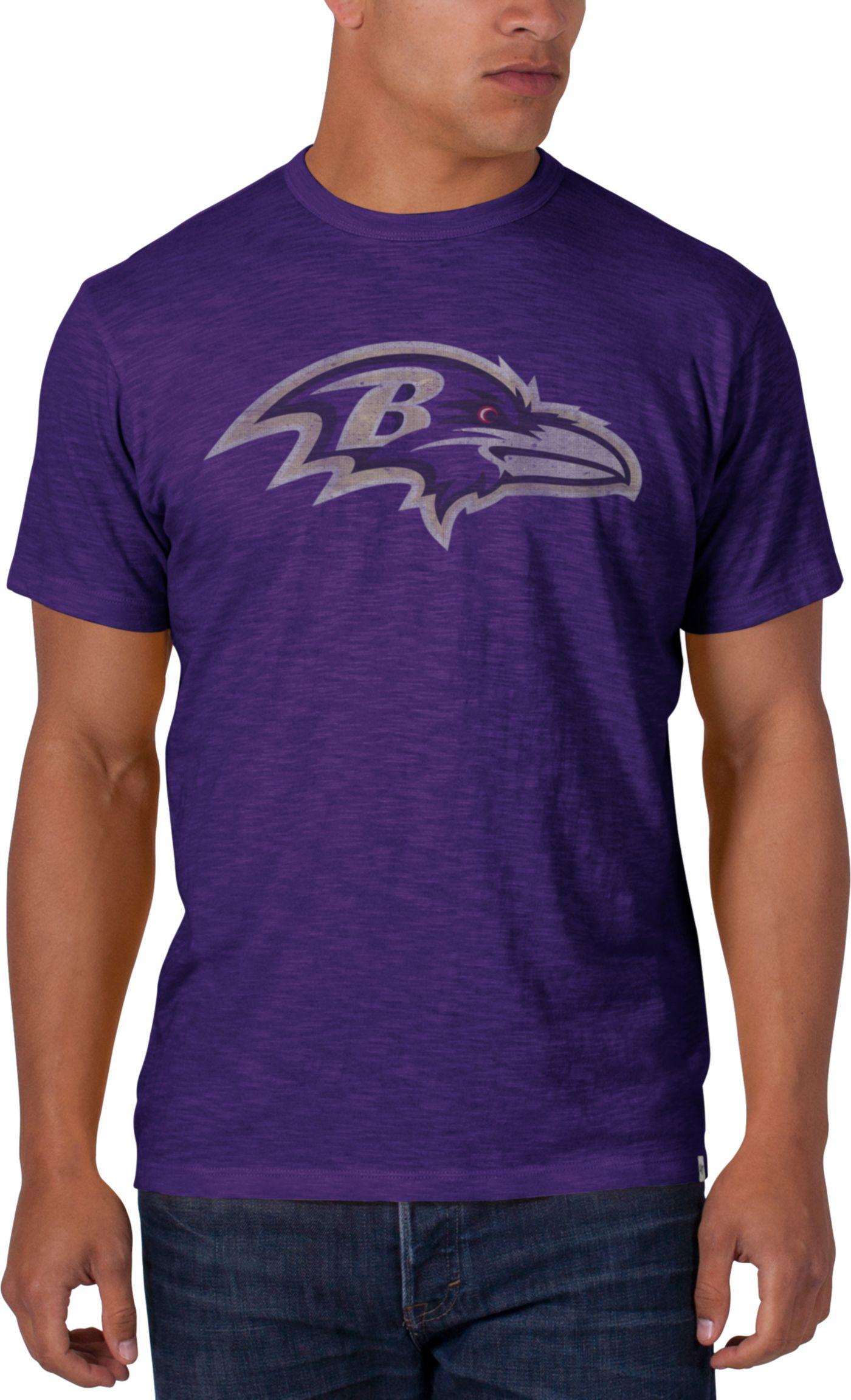 '47 Men's Baltimore Ravens Scrum Logo Purple T-Shirt