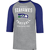 '47 Men's Seattle Seahawks Club Legacy Grey Raglan T-Shirt