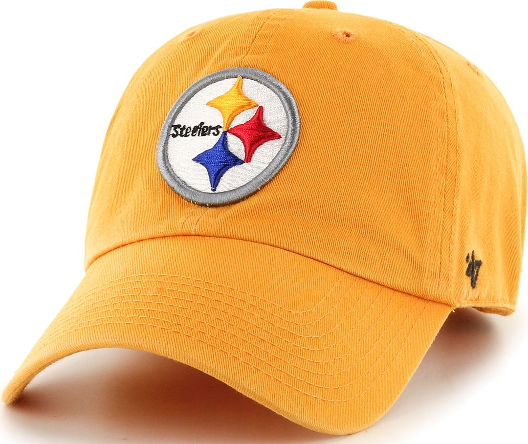 76d7970f932628 47 Men's Pittsburgh Steelers Clean Up Gold Adjustable Hat | Field ...