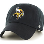 '47 Men's Minnesota Vikings Clean Up Black Adjustable Hat