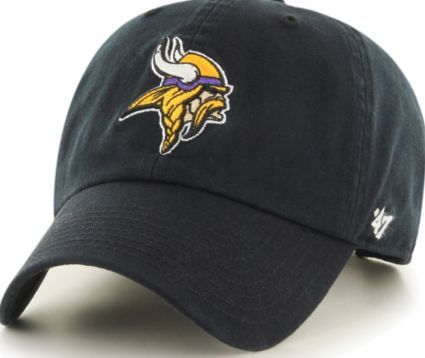 '47 Men's Minnesota Vikings Clean Up Black Adjustable Hat