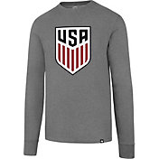 '47 Men's USA Crest Heather Grey Long Sleeve Shirt