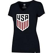 '47 Women's USA Crest Splitter Navy T-Shirt