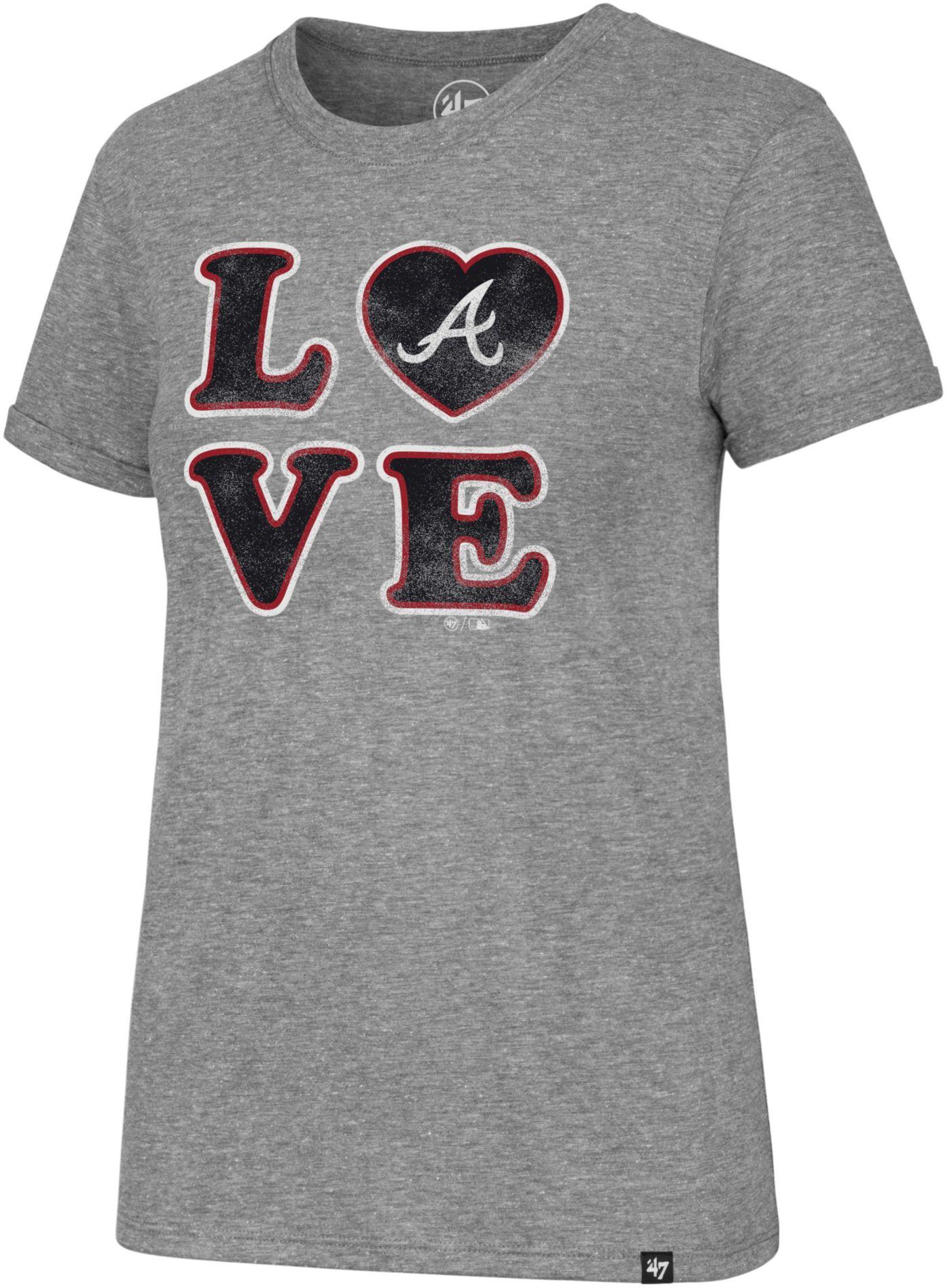 '47 Women's Atlanta Braves LOVE Tri-Blend T-Shirt