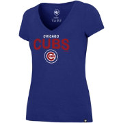 '47 Women's Chicago Cubs Ultra Rival V-Neck T-Shirt