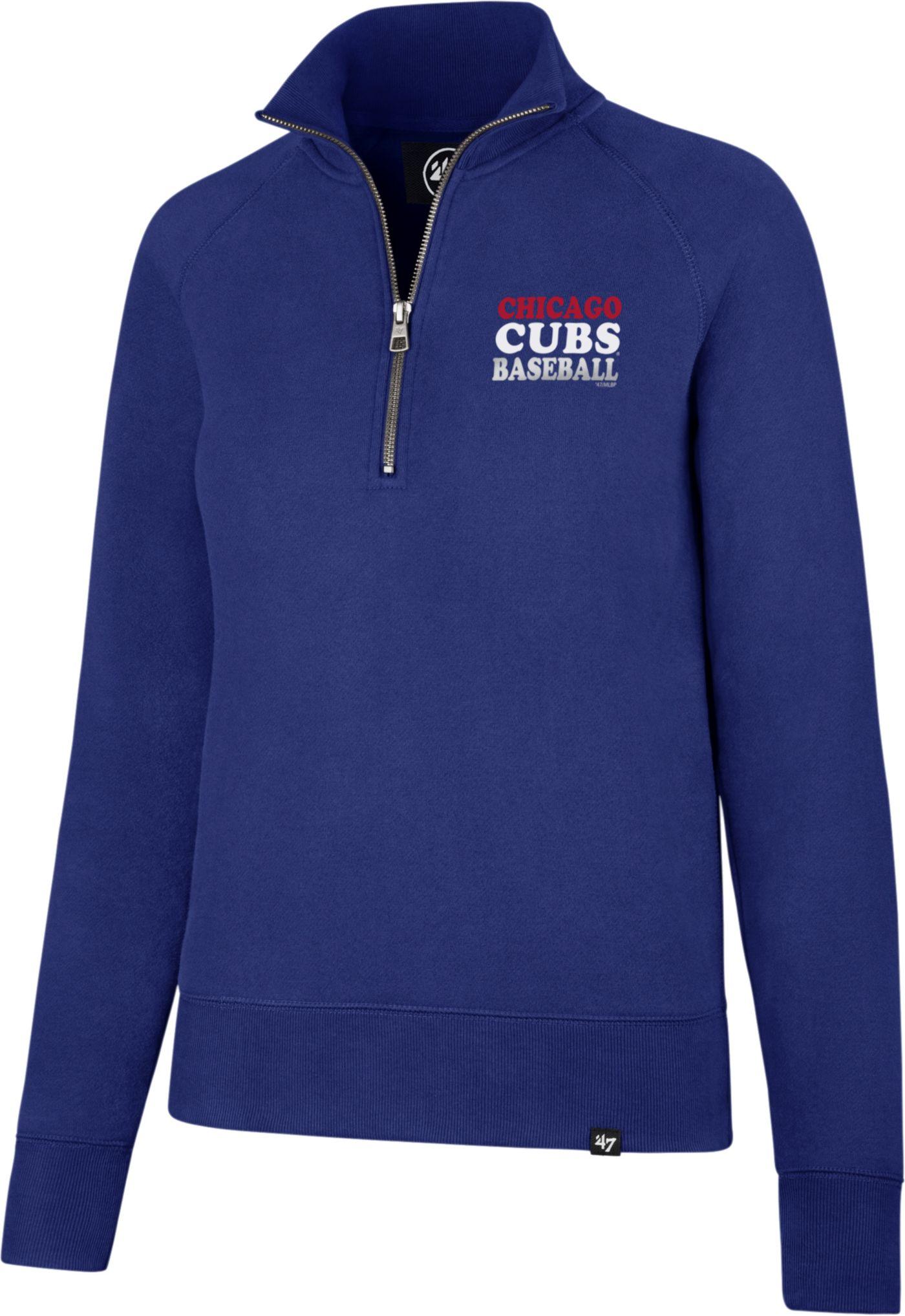 '47 Women's Chicago Cubs Shimmer Royal Quarter-Zip Pullover