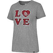 '47 Women's St. Louis Cardinals LOVE Tri-Blend T-Shirt