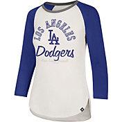 '47 Women's Los Angeles Dodgers Splitter Raglan Three-Quarter Sleeve Shirt