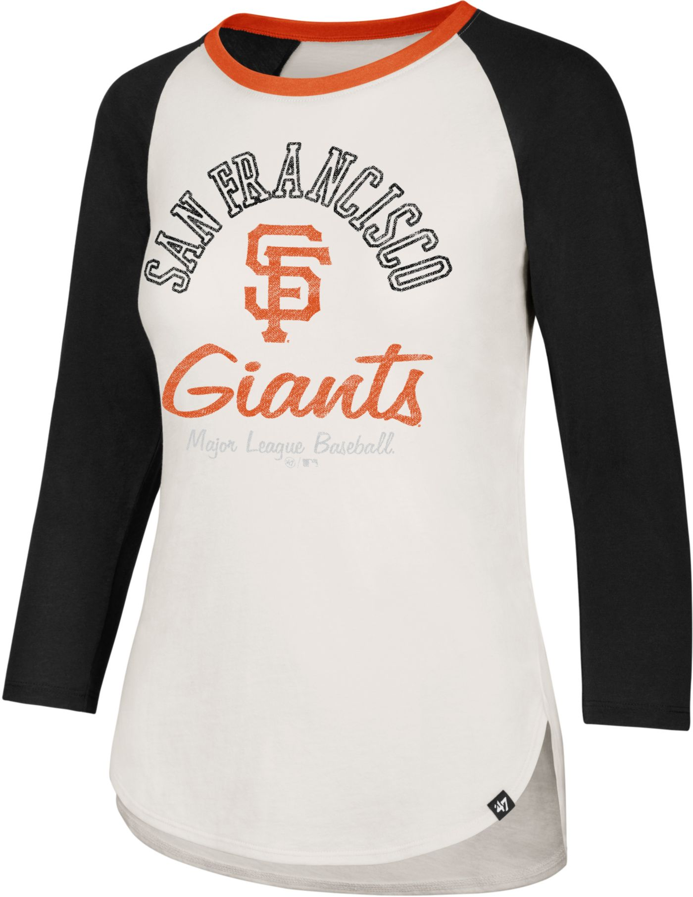 '47 Women's San Francisco Giants Splitter Raglan Three-Quarter Sleeve Shirt