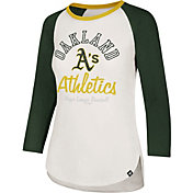 '47 Women's Oakland Athletics Splitter Raglan Three-Quarter Sleeve Shirt