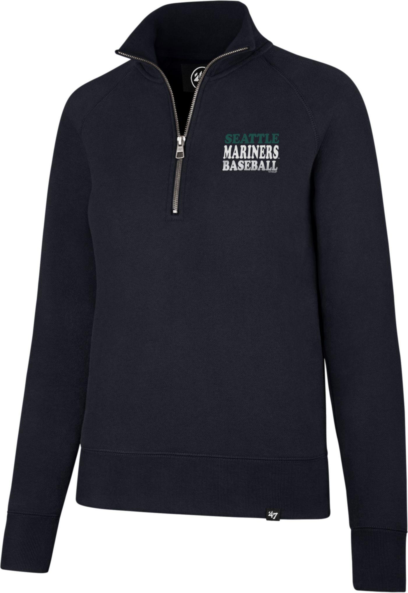 '47 Women's Seattle Mariners Shimmer Navy Quarter-Zip Pullover