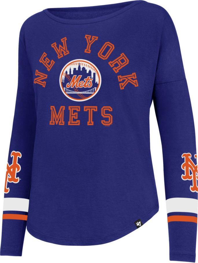 74f9f8ce '47 Women's New York Mets Royal Long Sleeve Crew