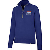 '47 Women's New York Mets Shimmer Royal Quarter-Zip Pullover