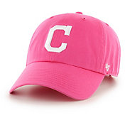 '47 Women's Cleveland Indians Clean Up Pink Adjustable Hat