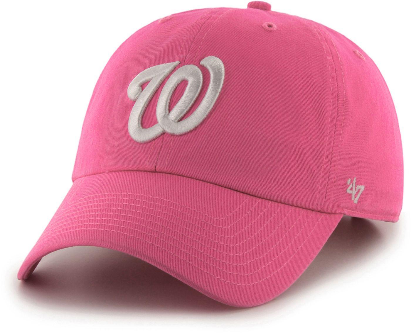 '47 Women's Washington Nationals Clean Up Pink Adjustable Hat