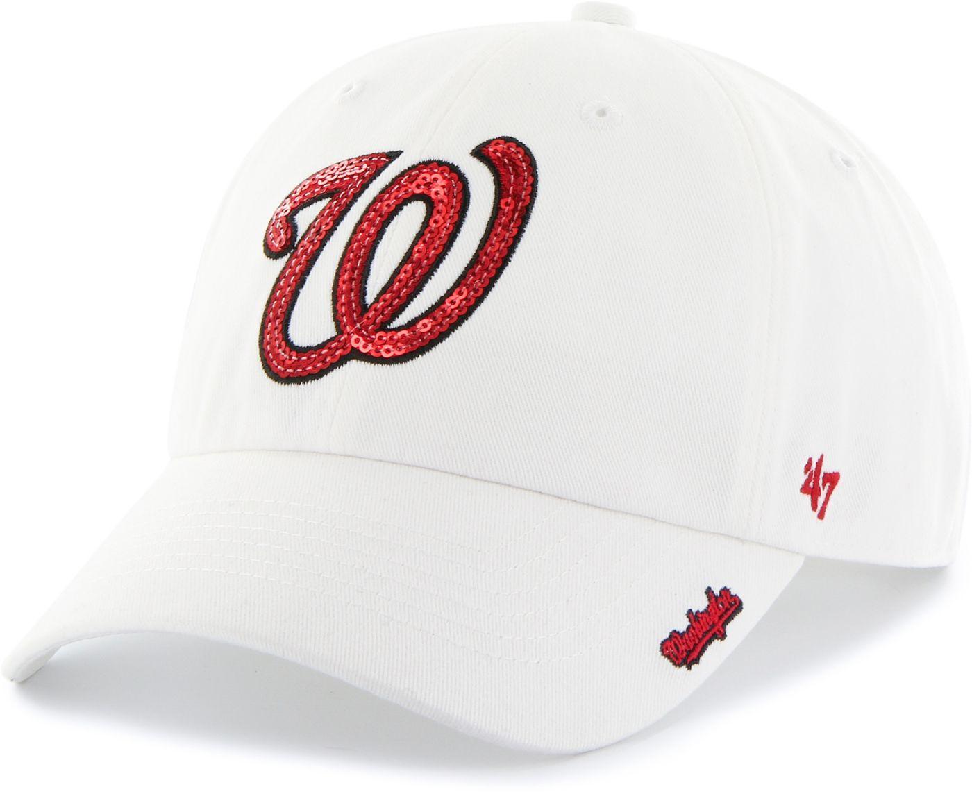 '47 Women's Washington Nationals Sparkle Clean Up White Adjustable Hat
