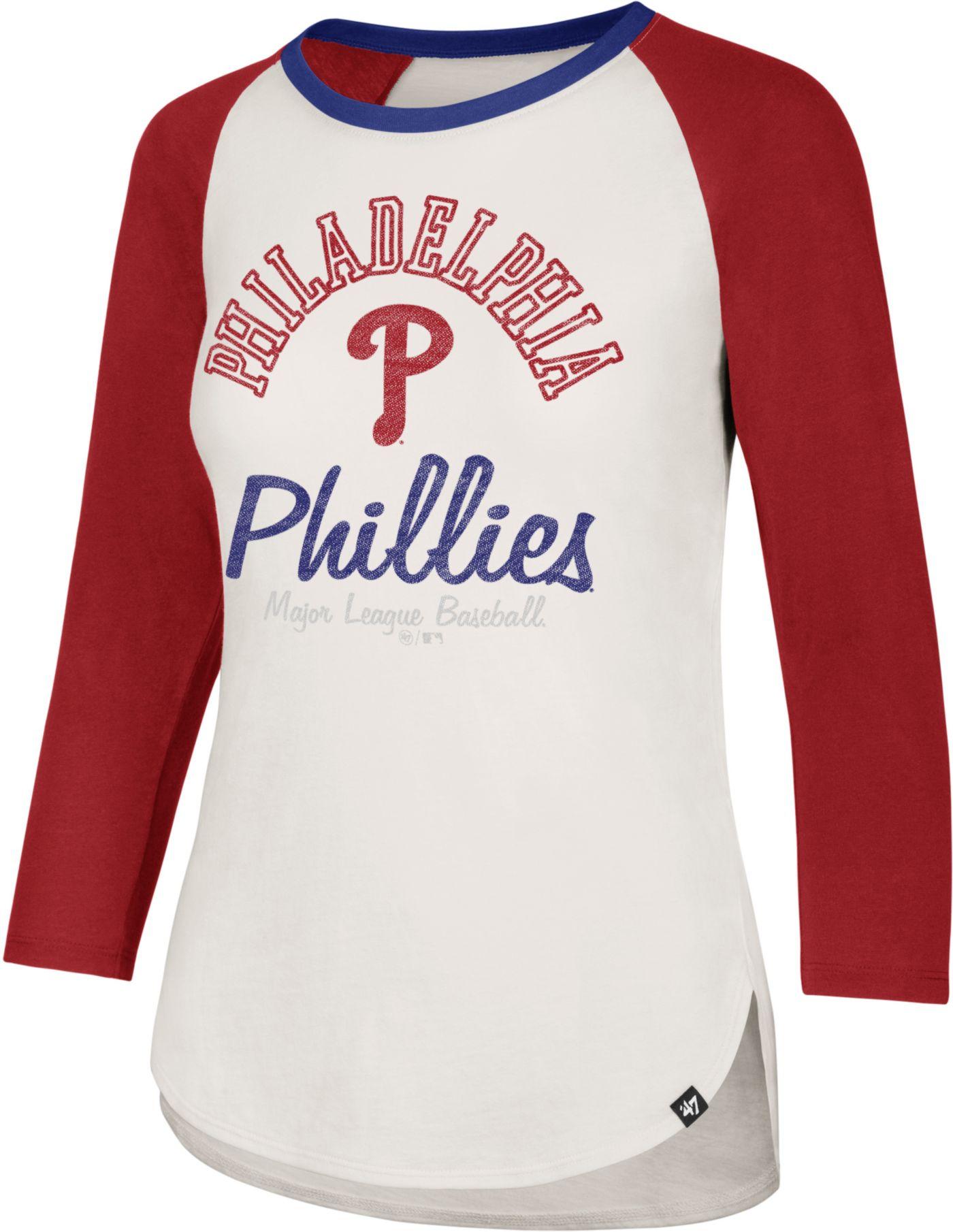 '47 Women's Philadelphia Phillies Splitter Raglan Three-Quarter Sleeve Shirt