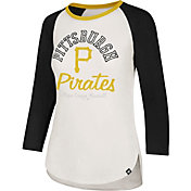 '47 Women's Pittsburgh Pirates Splitter Raglan Three-Quarter Sleeve Shirt