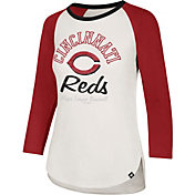 '47 Women's Cincinnati Reds Splitter Raglan Three-Quarter Sleeve Shirt