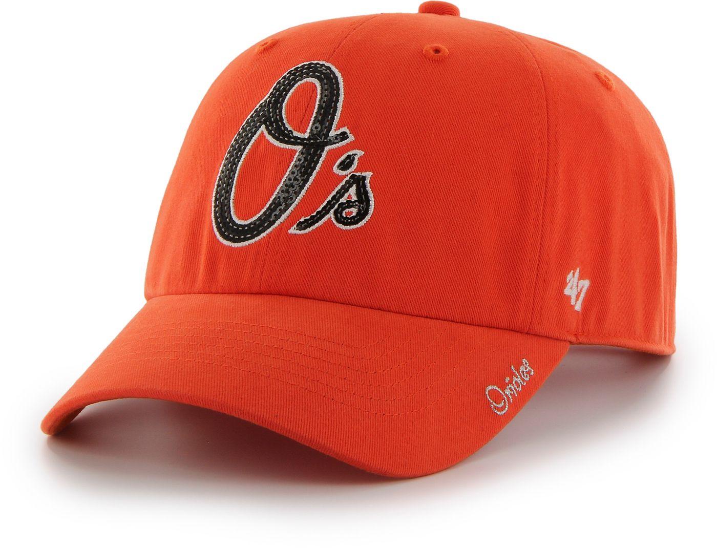 '47 Women's Baltimore Orioles Sparkle Clean Up Orange Adjustable Hat