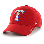 '47 Women's Texas Rangers Sparkle Clean Up Red Adjustable Hat