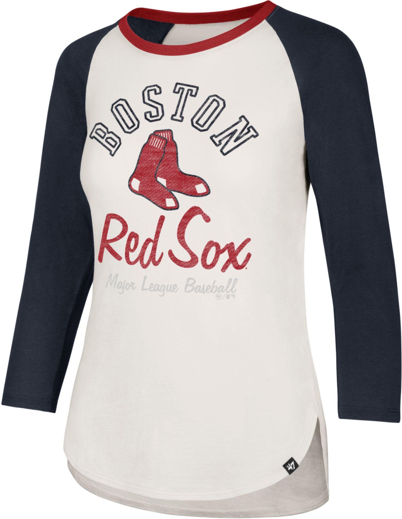 '47 Women's Boston Red Sox Splitter Raglan Three-Quarter Sleeve Shirt