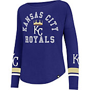'47 Women's Kansas City Royals Royal Long Sleeve Crew