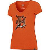'47 Women's Detroit Tigers Ultra Rival V-Neck T-Shirt