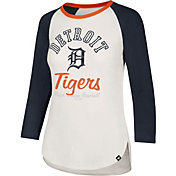 '47 Women's Detroit Tigers Splitter Raglan Three-Quarter Sleeve Shirt
