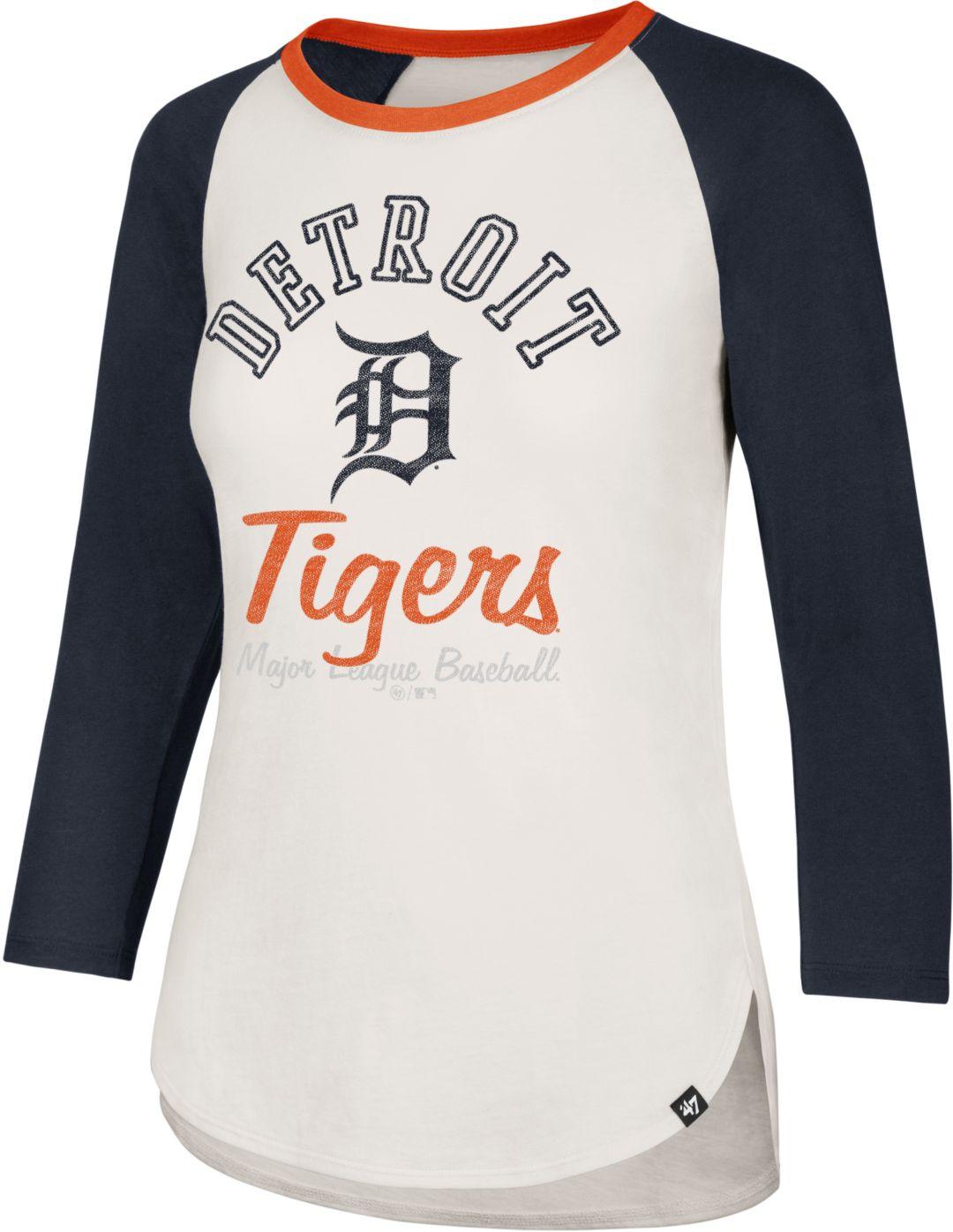 6692e763 '47 Women's Detroit Tigers Splitter Raglan Three-Quarter Sleeve Shirt