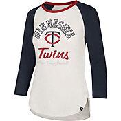 '47 Women's Minnesota Twins Splitter Raglan Three-Quarter Sleeve Shirt