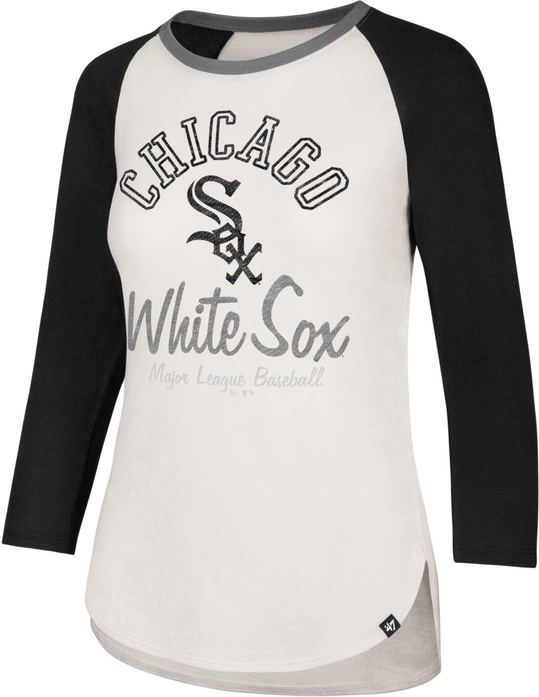 d616c07d '47 Women's Chicago White Sox Splitter Raglan Three-Quarter Sleeve Shirt