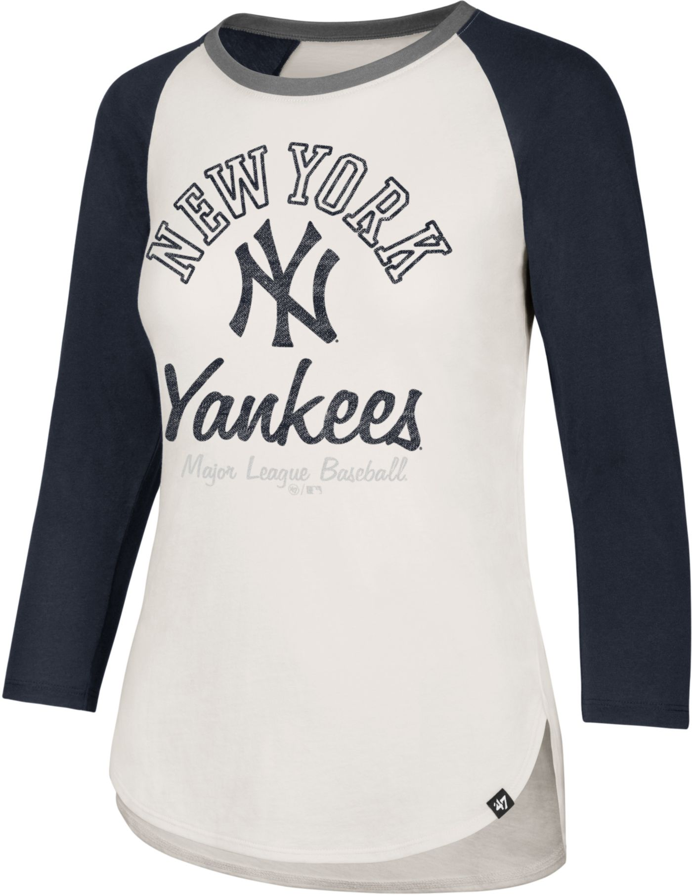 '47 Women's New York Yankees Splitter Raglan Three-Quarter Sleeve Shirt