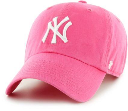 47 Women s New York Yankees Clean Up Pink Adjustable Hat. noImageFound 151f228d5