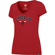 '47 Women's Chicago Bulls Arch Basic Red V-Neck T-Shirt