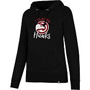 '47 Women's Atlanta Hawks Black Pullover Hoodie