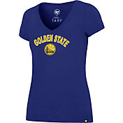 '47 Women's Golden State Warriors Arch Basic Royal V-Neck T-Shirt