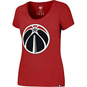 '47 Women's Washington Wizards Wordmark Red Scoop Neck T-Shirt
