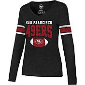 ef2a331a40b Product Image · '47 Women's San Francisco 49ers Club Stripe Black Long  Sleeve Shirt. '