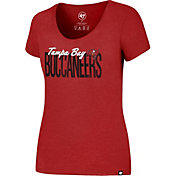 '47 Women's Tampa Bay Buccaneers Club Foil Red T-Shirt