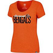 '47 Women's Cincinnati Bengals Foil Orange T-Shirt