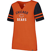 '47 Women's Chicago Bears City Sleeve Stripe Orange T-Shirt