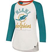 '47 Women's Miami Dolphins Raglan Shirt