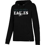 '47 Women's Philadelphia Eagles Headline Black Pullover Hoodie