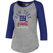 '47 Women's New York Giants Club Grey Raglan T-Shirt