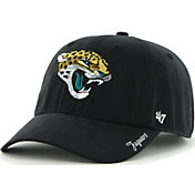 '47 Women's Jacksonville Jaguars Sparkle Clean Up Black Adjustable Hat