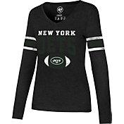 '47 Women's New York Jets Club Stripe Black Long Sleeve Shirt